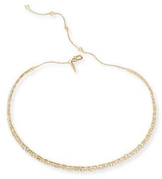Alexis Bittar Crystal Spike Choker Necklace, Golden $255 thestylecure.com