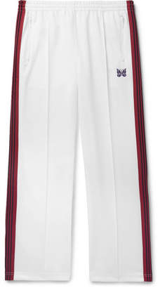 Needles Embroidered Striped Satin-Jersey Track Pants - Men - White