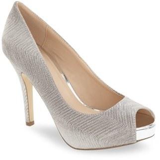 Menbur 'Cabriel' Peep Toe Concealed Platform Pump (Women) $79.95 thestylecure.com