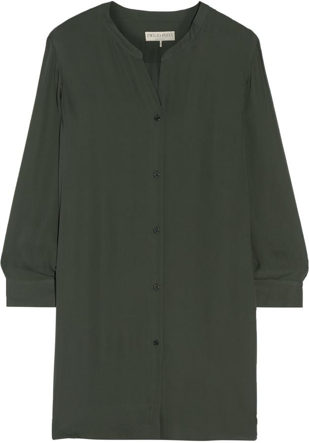 Emilio PucciEmilio Pucci Silk-georgette shirt dress