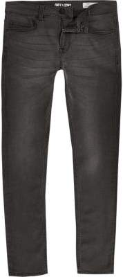 River Island Only and Sons grey skinny jeans