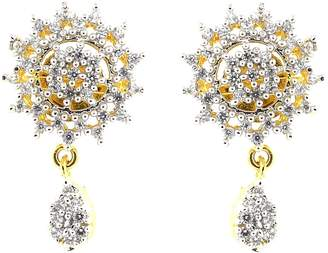 Marvelous! Be You Marvelous Color Cubic Zircon Real Look Rhodium Plated Brass Stud Earrings for Women