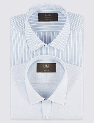 Marks and Spencer 2 Pack Short Sleeve Regular Fit Shirts