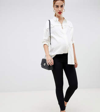 Asos DESIGN Maternity pull on jegging in clean black with over the bump waistband