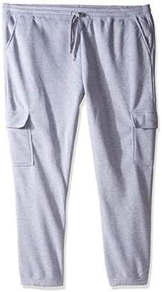 Southpole Men's Big and Tall Active Basic Fleece Open Bottom Cargo Pants