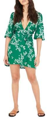 Faithfull The Brand Margot Floral Print Button Front Dress