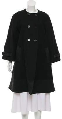 Derek Lam Knee-Length Wool & Cashmere-Blend Coat