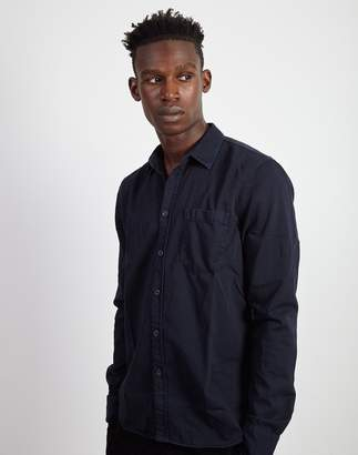 Nudie Jeans Henry Pigment Dyed Long Sleeve Shirt Navy