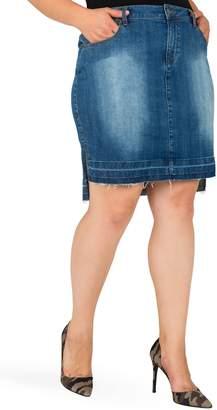 Standards & Practices Dariah Released Step Hem Denim Skirt