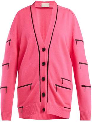 Christopher Kane Zip-detail V-neck cashmere cardigan