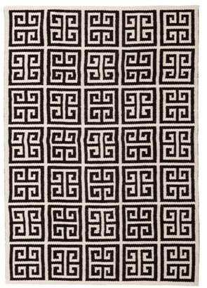 Jonathan Adler Greek Key Reversible Peruvian Flatweave Rug 4' x 6' w/ Tags