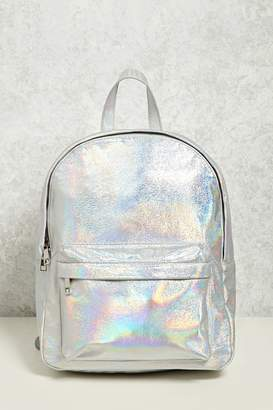 Forever 21 Iridescent Structured Backpack
