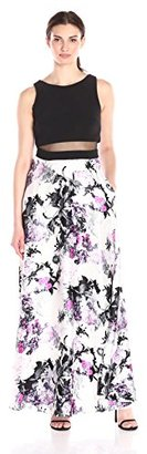 Betsy & Adam Women's Summer Floral Mock 2pc $229 thestylecure.com