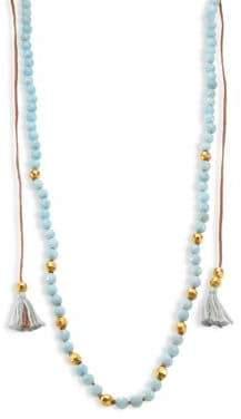 Chan Luu Tasseled Amazonite Long Necklace