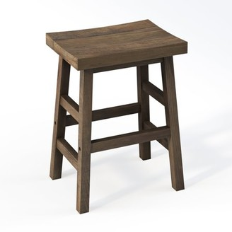 "Alaterre Pomona 26""H Reclaimed Wood Counter Stool"