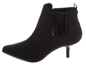 Donald J Pliner Woven Pointed-Toe Ankle Boots