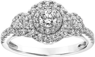 Affinity Diamond Jewelry Round Three Stone Diamond Ring, 14K, 4/10 cttw,by Affinity