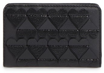 Marc Jacobs Women's Marc Jacobs Embossed Heart Compact Leather Wallet - Black