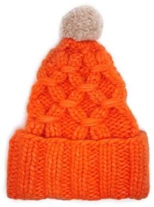 Lola Hats - Braces Heavy Knit Beanie Hat - Womens - Orange