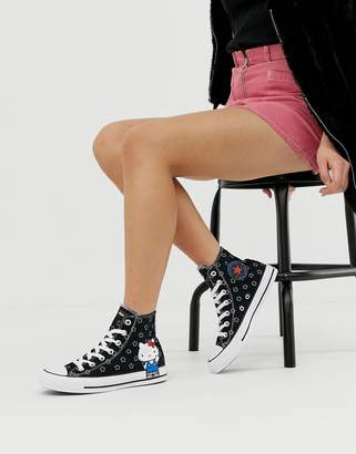 Converse x Hello Kitty Chuck Taylor Hi star print trainers