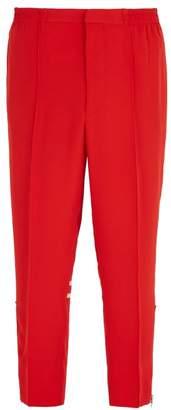 Alexander McQueen Zip Hem Track Pants - Mens - Red