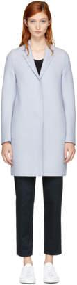 Harris Wharf London Grey Wool Cocoon Coat