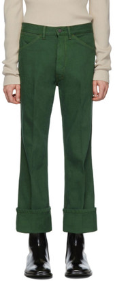 Lemaire Green Bootcut Jeans