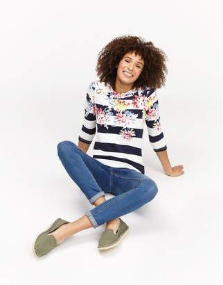 Joules Clothing Cream Poppy Harbour print Jersey Top