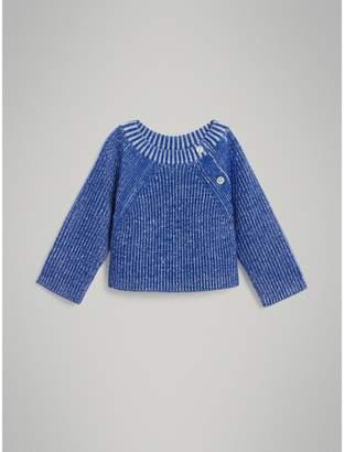 Burberry Childrens Rib Knit Merino Wool Sweater