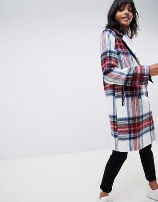 Asos DESIGN plaid check coat