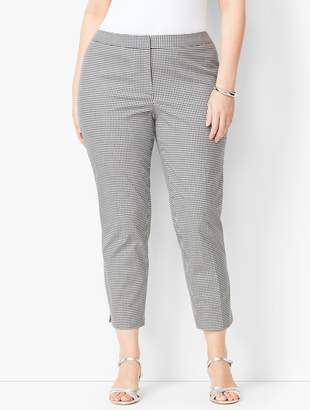 Talbots Plus Size Tailored Gingham Crops