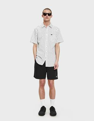 Obey Brighton Woven SS Shirt in White Multi