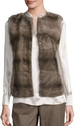 Lafayette 148 New York Women's Murray Mink Fur & Cashmere Vest