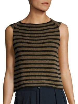 Vince Striped Knit Tank Top