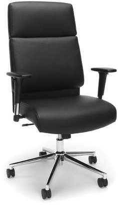 Latitude Run Huertas High Back Bonded Manager Leather Executive Chair
