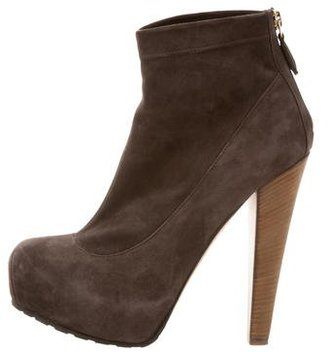 Brian Atwood Suede Platform Booties $145 thestylecure.com