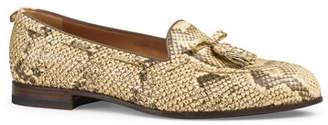 3f29e3b3d77 Gucci Python Tassel Loafer
