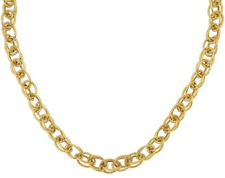 14K Gold Italian Gold Interlocking Cable Link Chain, 14.5g