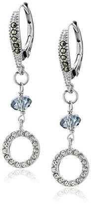 "Judith Jack ""Abalone Enchantment"" Sterling Silver Marcasite Blue Drop Earrings $31.20 thestylecure.com"