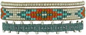 LeJu London - Set of Three Bracelets in Turquoise Tones