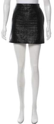 Saint Laurent Vinyl Mini Skirt