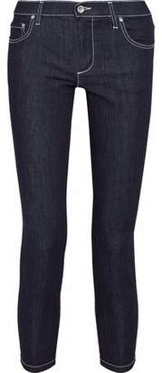 RED Valentino Cropped Low-Rise Skinny Jeans