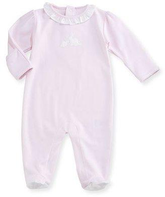 Kissy Kissy Pique Cottontails Pima Footie Pajamas, Pink, Size 0-9 Months $45 thestylecure.com