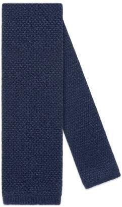 Gucci Bee underknot cashmere silk tie