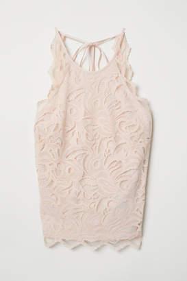 H&M Sleeveless Lace Top - Orange