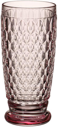 Villeroy & Boch Boston Colored Highball-Rose: Set of 4 13.5 oz