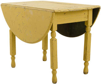 Rejuvenation Sweet Yellow-Painted Drop-Leaf Table