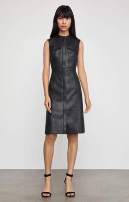 BCBGMAXAZRIA Allexandria Faux-Leather Dress