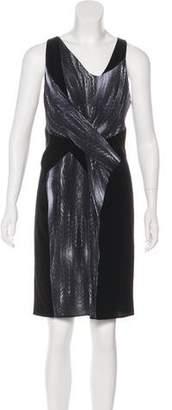 Helmut Lang Silk-Blend Knee-Length Dress