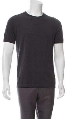 Dolce & Gabbana Leather-Accented T-Shirt Leather-Accented T-Shirt